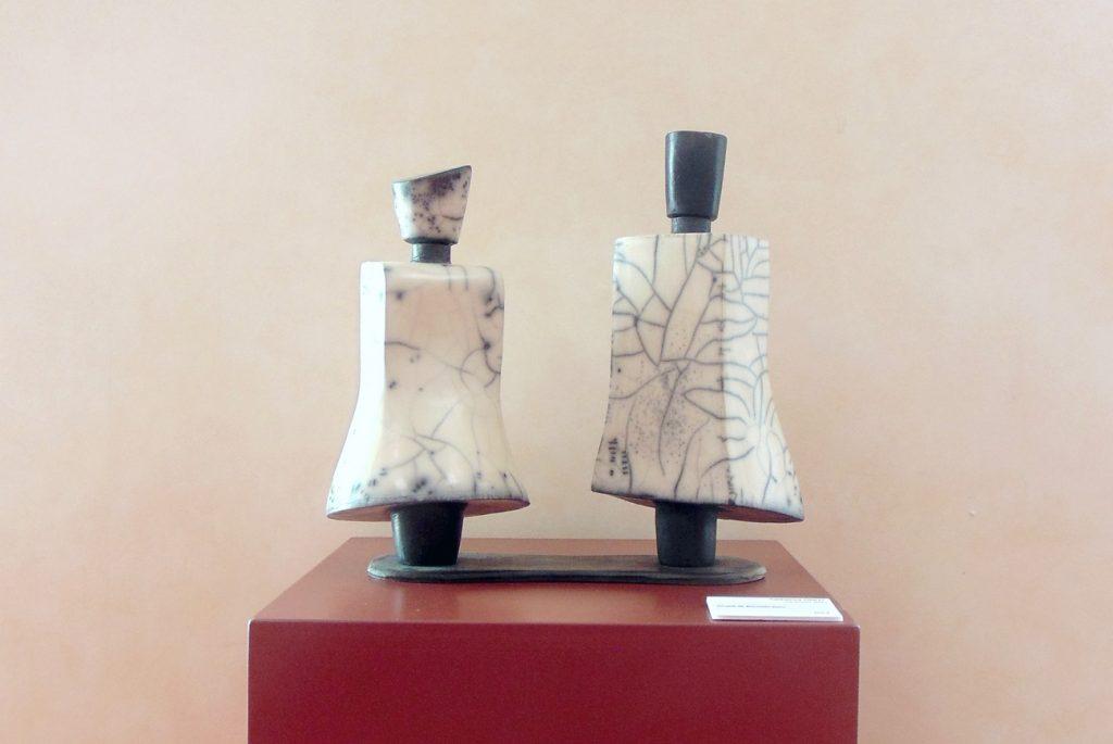 Catherine Finot · Céramiste · Couple de bouteilles Raku