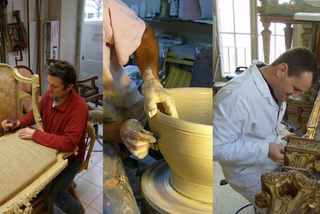 Atelier Pellissier : tapissier d'ameublement · La poterie du Donjon · Atelier Zador : dorure