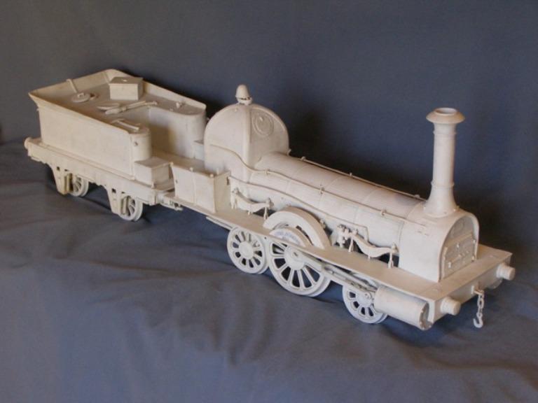 Martin Utre · Locomotive en porcelaine · Collection du Pôle de la porcelaine