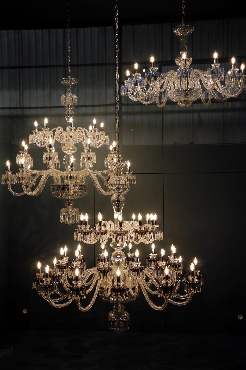 Lustres en cristal · Cristallerie Saint Louis lès Bitche