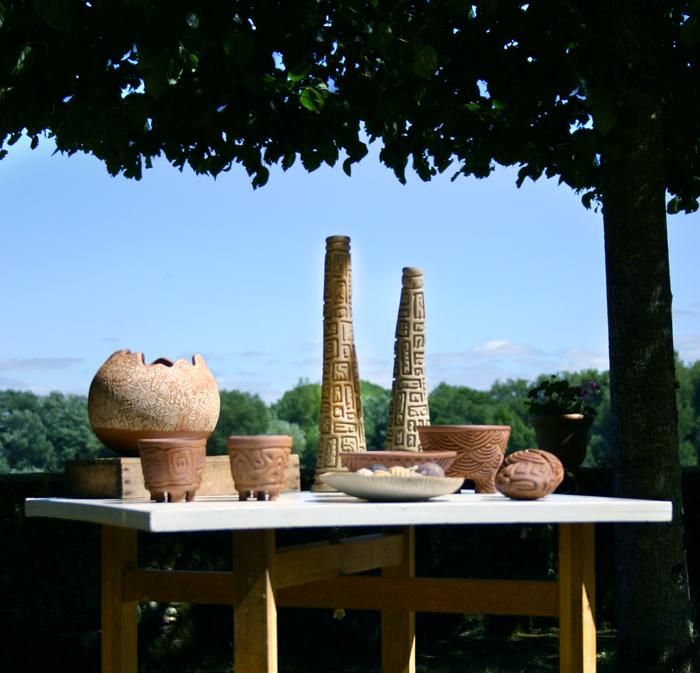 Exposition dans les jardins de la Pointe · Bouchemaine