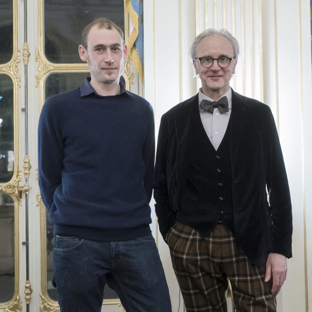 Hubert Haberbusch et son élève Isaak Rensing · Strasbourg