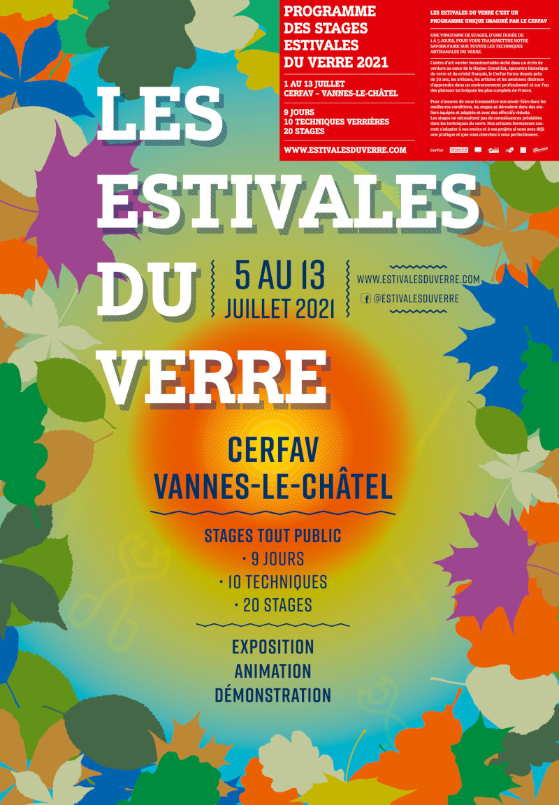 """Affiche """" Les Estivales du Verre """" 2021"""