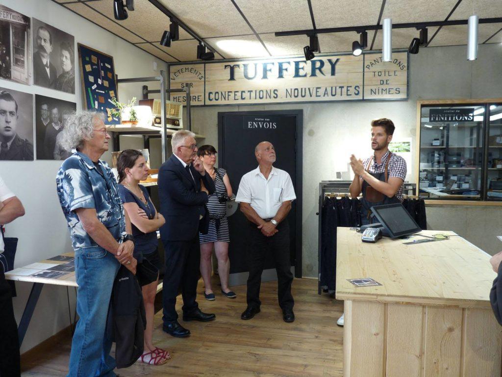 """Visite de l'entreprise """" EPV """" des jeans Tuffery"""