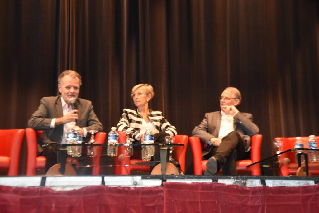de g. à dr. : Alain Vogel Singer, Marie-Hélène Thoraval et Jean-Marie Platet