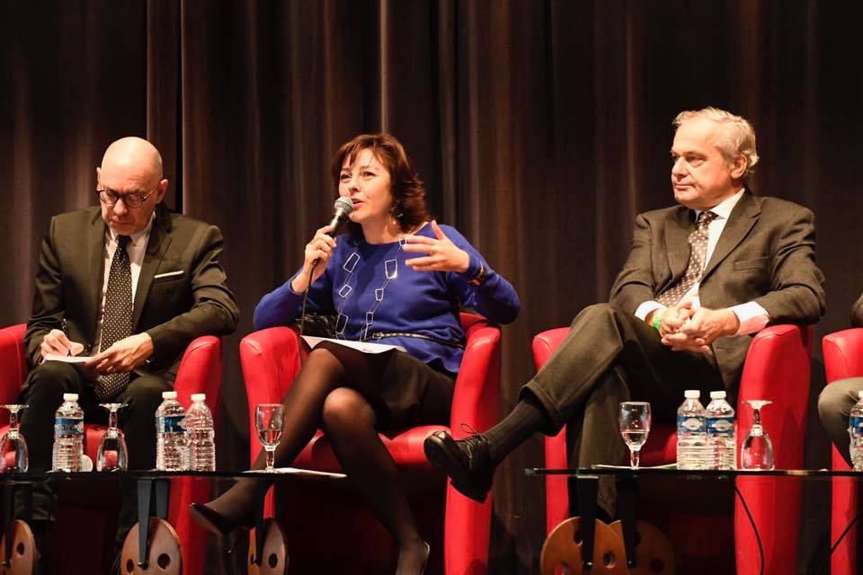 De g. à dr. : Michel-François Delannoy, Carole Delga, Rollon Mouchel-Blaisot