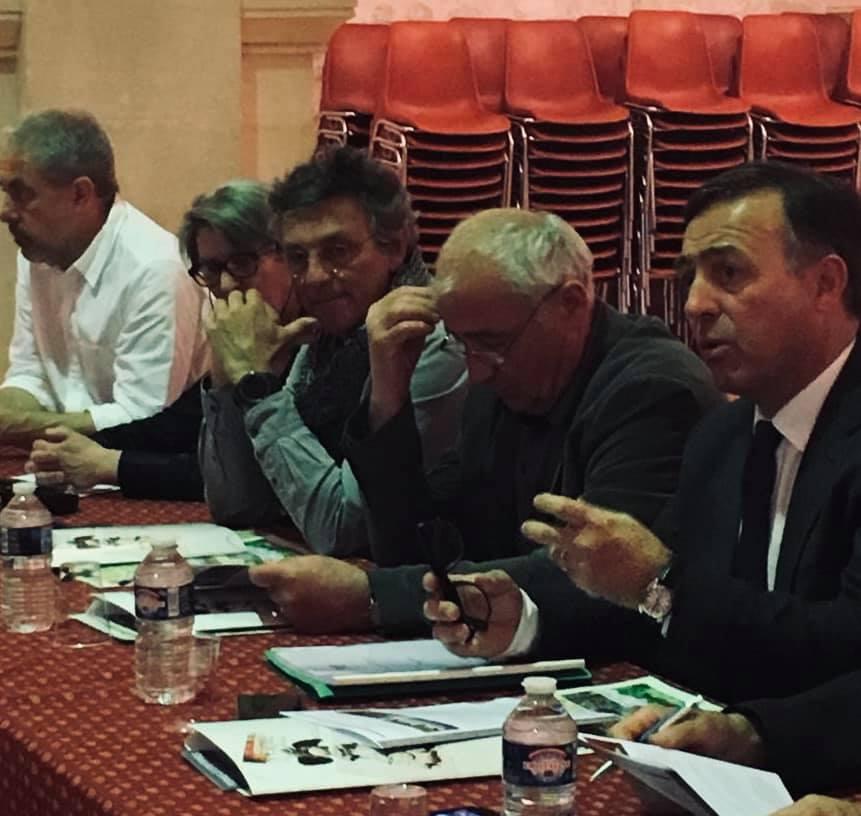 De g. à dr. : Jean-Michel Kosianski, Jean-Marc Sauvier, Pierre Gabert et Philippe Huppé