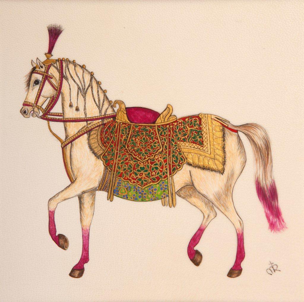 Reproduction par Anastasia · Cheval XVe siècle / Art Moghol ∼ British Museum (Londres)