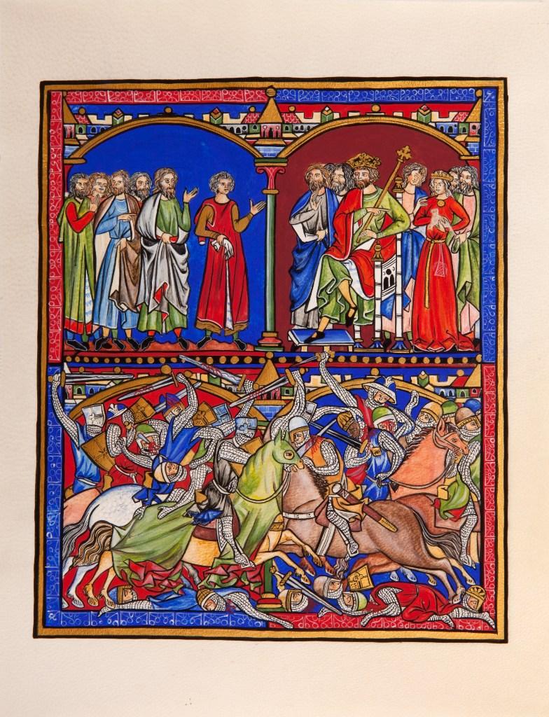 Reproduction par Anastasia · Bible de Maciejowski XIIIe siècle ∼ Morgan Library and Museum (New York)