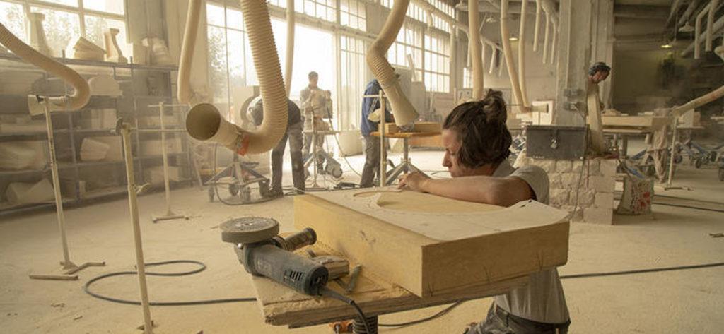 LMB Felletin · Atelier taille de pierre © Région Nouvelle Aquitaine