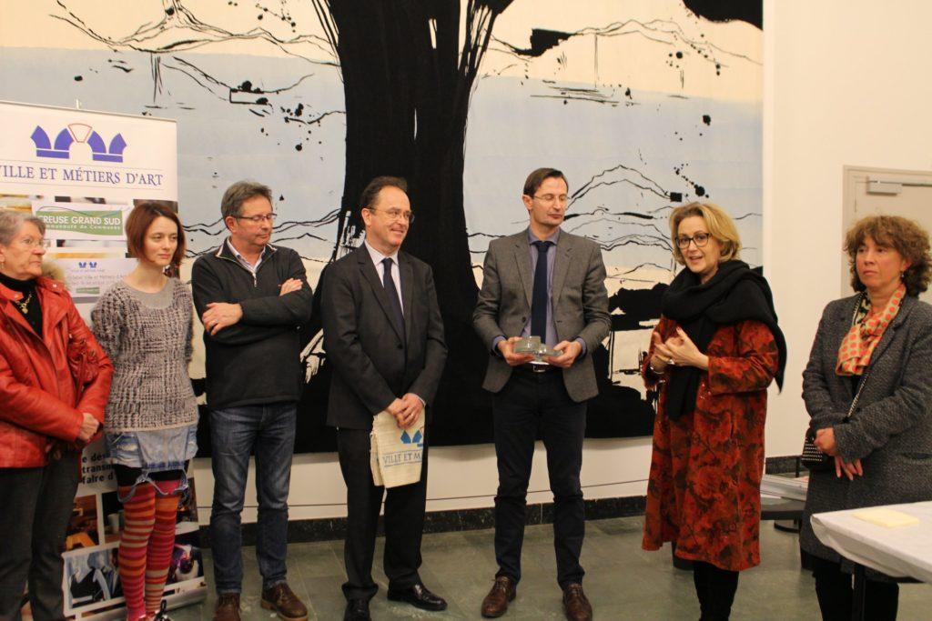 Discours de Valérie Simonet, Présidente du Département de la Creuse, en présence de Jeanine Perruchet, Maire de Felletin et Valérie Bertin, Maire de Vallière