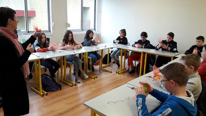 Les élèves de 6ème du Collège de Baccarat