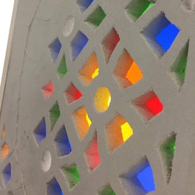 Moucharabieh en plâtre et en verre © Cerfav