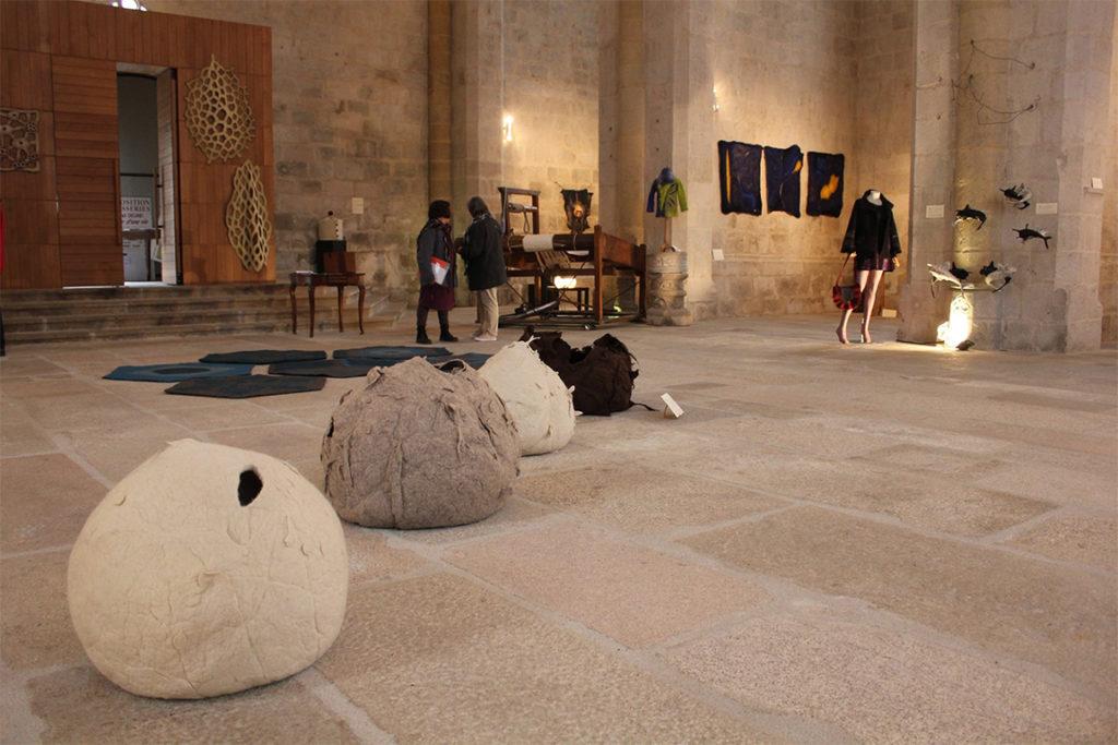 Exposition Habiller l'espace © Felletin Patrimoine Environnement