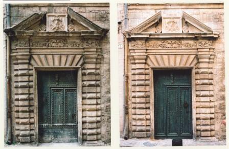 Serge Ivorra · Restauration de la porte de la Maison des Commandeurs à Pézenas © DR