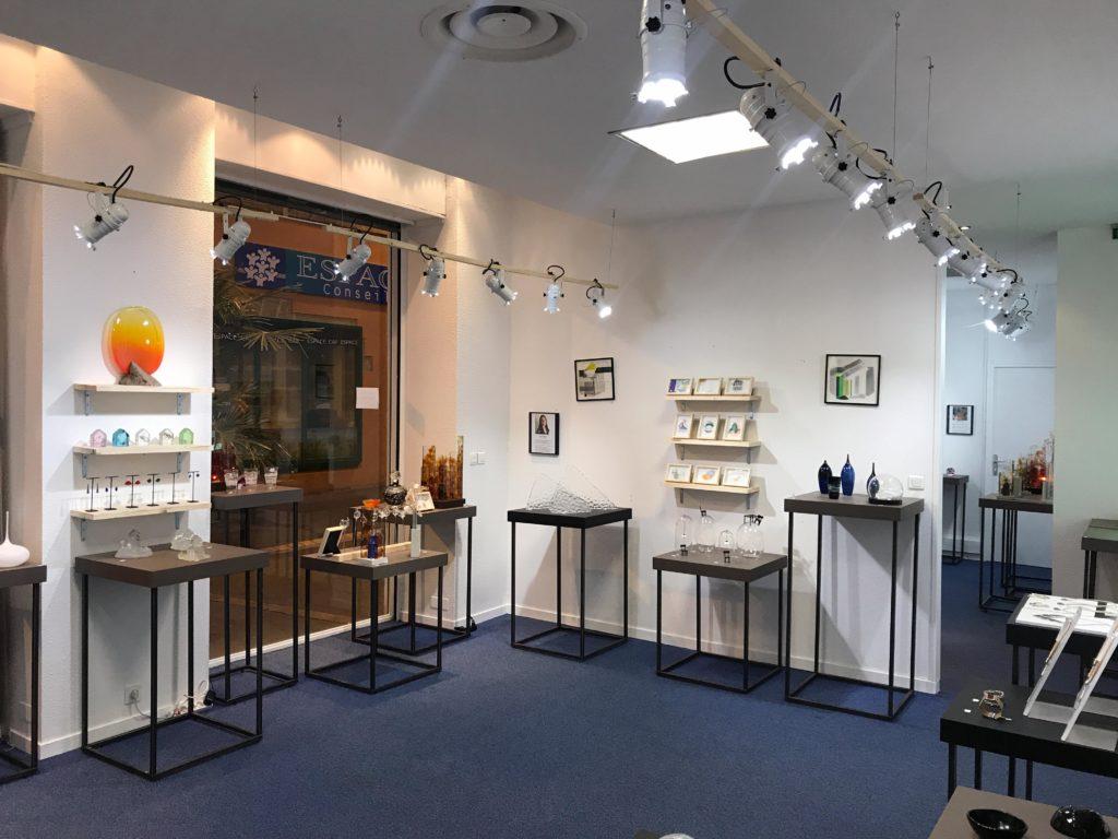 La boutique éphémère des métiers d'art du verre à Moulins