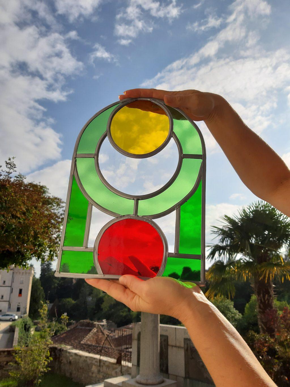 Cours de vitrail pour adulte © Marilia Schetrite