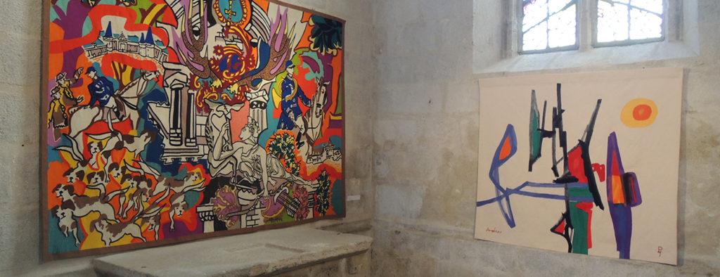 Exposition de tapisseries Charles Lapicque & Etel Adnan © OT Aubusson-Felletin