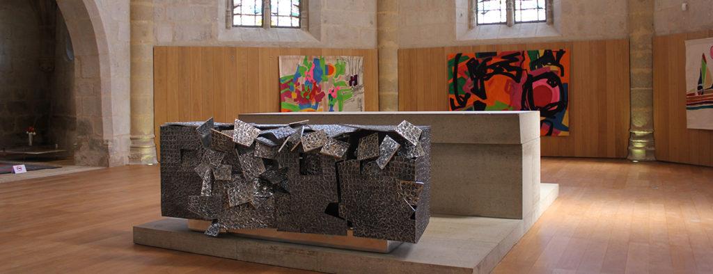 Exposition de tapisseries Vincent Dubourg & Etel Adnan © OT Aubusson-Felletin